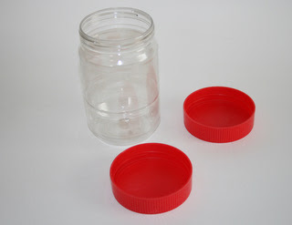 Clean Peanut Butter Jars with Lids