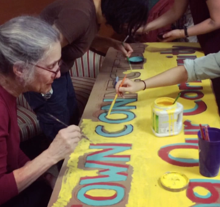 Banner making for Chinatown Connections parade
