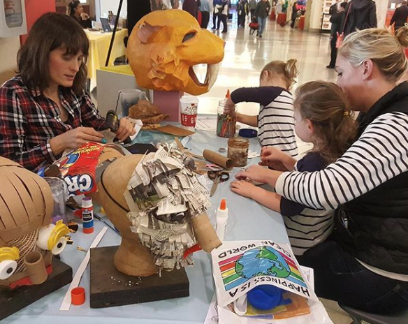 Airport Mask Making for America Recycles Day