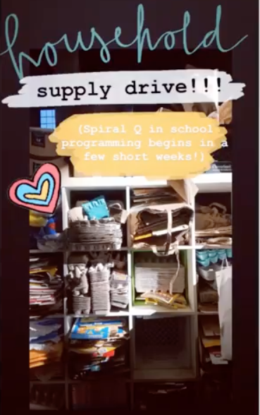 Household Material Supply Drive