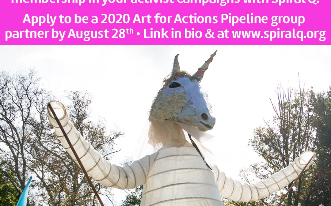 Apply to the Art for Actions Pipeline program